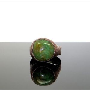 Jewelry - Natural Emerald crystal ring size 8.5